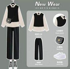 Korean Outfit Street Styles, Korean Outfits, Korean Style, Korean Girl Fashion, Ulzzang Fashion, Cute Skirt Outfits, Cute Casual Outfits, Kpop Fashion Outfits, Hijab Fashion