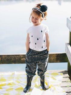 Schnittmuster: Regenhose - Gummizüge - Hosen & Overalls - Mädchen - Kinder - burda style
