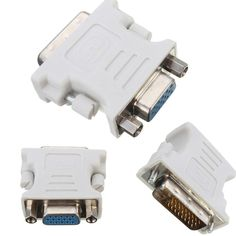 1PC 15 Pin VGA Female to 24+1 Pin DVI-D Male Adapter Converter LCD PC Laptop JP8 #UnbrandedGeneric