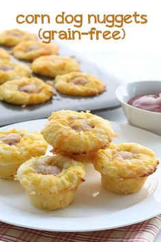 Grain-free low carb corn dog bites - these are a great back-to-school snack. Kids love them!