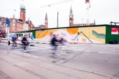 Wall decoration by Kristine Mandsberg, Copenhagen Town Hall Square.