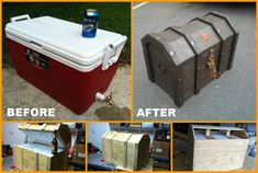 DIY Treasure Chest Cooler