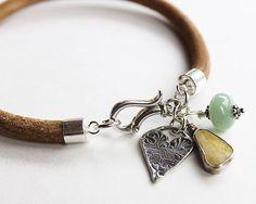 Artisan bracelet surf and sand summer lovin' charm bracelet 925 silver
