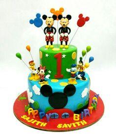Mickey club cake
