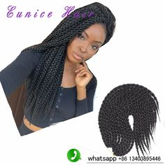 3D Cubic Twist Crochet Braids African Braiding Styles