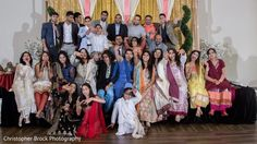 Indian couple, family and friends photography at wedding reception http://www.maharaniweddings.com/gallery/photo/107029