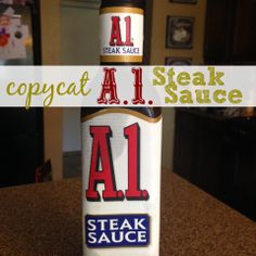 Homemade Steak Sauce I've gotta try this one.I've gotta try this one. Sauce Steak, Steak Marinade Recipes, Marinade Sauce, Smoker Recipes, Homemade Seasonings, Homemade Sauce, Homemade Recipe, Food Storage, Do It Yourself Food