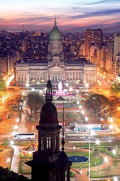 Great view of Congreso, Buenos Aires, Argentina Places Around The World, Oh The Places You'll Go, Travel Around The World, Places To Travel, Places To Visit, Around The Worlds, Argentine Buenos Aires, Wonderful Places, Beautiful Places