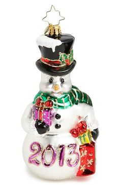 Christopher Radko 'Fond of Frosty 2013' Ornament available at #Nordstrom