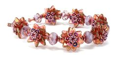 double pinwheel beaded bead bracelet