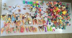 Huge Polly Pocket and Disney Lot with Dolls Boys Mens Pets Tons of Clothes Shoes | eBay