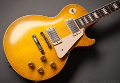 """thedailygit: """"Gibson Les Paul VOS, Flame Top Lemonburst see more guitars at… Gibson Epiphone, Gibson Guitars, Fender Guitars, Gibson Les Paul Sunburst, 70s Punk, Taylor Guitars, Les Paul Guitars, Guitar Rig, Learn To Play Guitar"""