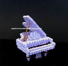 Part 1 of 3----To co robię i co lubię: Quilling 3d -fortepian / piano