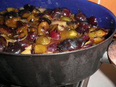 Making plum jam, unexpected success