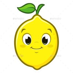 Buy Cartoon Lemon by mumut on GraphicRiver. Vector illustration of cute cartoon lemon for design element Simple Cartoon, Cute Cartoon, Kawaii Drawings, Cartoon Drawings, Lemon Drawing, Vegetable Cartoon, Artsy Background, Lemon Art, Drawing Lessons For Kids