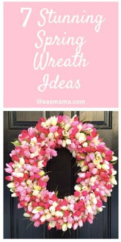 Spring has sprung (or it's about to) and that means you need a fresh design for your front door. When I think of Spring, I think of budding flowers and bright colors, all things that the winter is not. If your front door is in need of a new wreath to announce the arrival of spring, then have a look at some of these gorgeous designs that you can make all on your own.