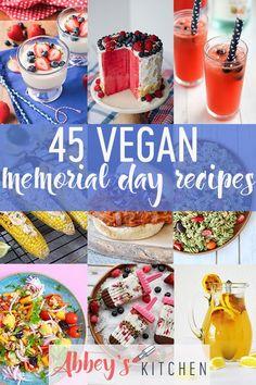 Tasty Collection of Vegan Memorial Day Recipes. Healthy Summer Recipes, Delicious Vegan Recipes, Vegan Desserts, Tasty, Healthy Kids, Vegan Food, Healthy Living, Vegan Treats, Amazing Recipes