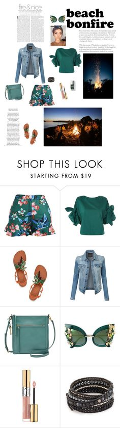 """""""Untitled #236"""" by brandikw on Polyvore featuring Topshop, Tory Burch, LE3NO, FOSSIL, Dolce&Gabbana, Yves Saint Laurent, Couture Colour and Chan Luu"""