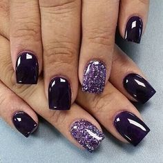 black with gold glitter acrylic gel nails  nails