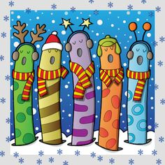 Actividades para Educación Infantil: Fuentes para hacer carteles de Navidad