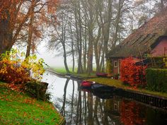 """Tucked away in the Netherlands is Giethoorn, a picturesque village without roads that's earned the nickname """"Dutch Venice."""""""