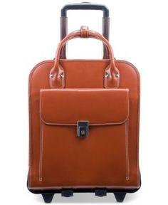 e6eed61b1d McKlein La Grange Detachable Wheeled Briefcase - Brown Luggage Backpack