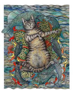 Happy Cat Dreams by Hannah Cooper