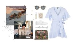 """""""ORDINARY"""" by miriamhr on Polyvore featuring moda, Ouai, Diptyque, Miu Miu, Topshop, Common Projects y Gucci"""