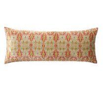 Pottery Barn - Fall 2016 Catalog - Sonja Ikat Printed Velvet Lumbar Pillow Cover, Warm Multi