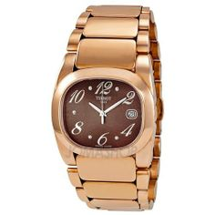 Tissot T-Moments Pink PVD Bracelet Brown Dial Ladies Watch T0093103329700 Tissot. $287.50. Water Resistant up to 100 m. Water Resistance : 10 ATM / 100 meters / 330 feet. Date. Steel Bracelet Strap. second-hand. Save 50% Off!