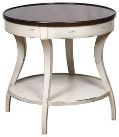 round bedside tables nightstands | Lamp Table - traditional - nightstands and bedside tables - by ...