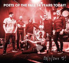 Happy 14th Poets of the Fall (4/25/2003)  Phot from the band's Instagram Poets Of The Fall, Alternative Rock Bands, Special Day, My Love, Birthday, Happy, Instagram Posts, Movie Posters, Simple