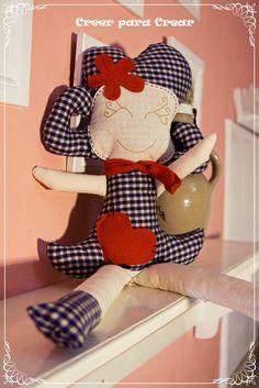 Muñecas y muñecos en tela CREER PARA CREAR  Buenos Aires- Argentina http://www.facebook.com/creerparacreargr