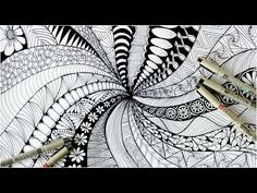 How to make zentangle patterns, paradox designs(doodling) New Tutorial 2018 Doodle Art Drawing, Zentangle Drawings, Doodles Zentangles, Zen Doodle, Drawing Ideas, Doodle For Beginners, Drawing For Beginners, Doodle Patterns, Zentangle Patterns