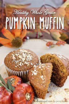 Healthy Whole Grain Pumpkin Muffins