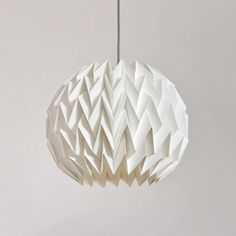Igloo Tall  White Paper Origami Lampshade By Skywardcreative
