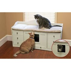 The Pet Bench Litter Box
