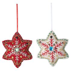 Felt Ornament Snow Set Of 2 II