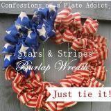 Tie fabric to wreath