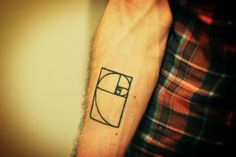 A guy with the fibonacci sprial tattooed on his arm? Hello amazingness!
