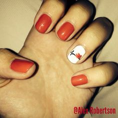 My nails for my nursing pinning ceremony 2014 ❤️