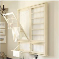 DIY drying rack for the laundry room