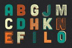Woodcut Lettering Generator by Scott Byrne Design on @creativemarket