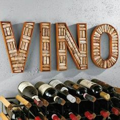 DIY Wine Rack Cork Sign                                                                                                                                                                                 More