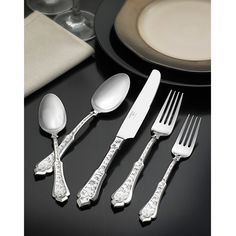 Hampton Forge Argent 45-Piece Embroidery Flatware Set | Overstock.com Shopping - The Best Deals on Flatware Sets