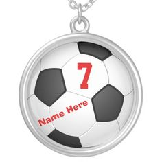 Personalized Soccer Necklaces with Number and Name