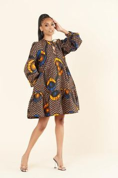African Print Clothing, African Print Dresses, African Dresses For Women, African Print Fashion, African Wear, African Fashion Dresses, African Prints, Chitenge Dresses, Ankara Dress