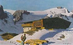 Alfons Walde - Alfons Walde, Biography, Prices, Record, Painter, Paintings, Artworks, Results, Auction, Aufstieg, Aurach Church, Bauernsonntag, Begegnung, Kitzbuhel, Tyrol