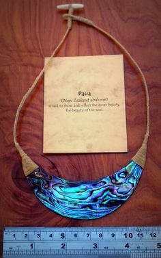 Georgeous Paua NZ Abalone necklace amazing by carvingbone on Etsy