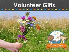 Volunteer Gift ideas for your preschool, pre-k, or kindergarten students to make. Volunteer Gifts, Volunteer Appreciation, Fundraising Events, Fundraising Ideas, School Staff, Sunday School, Classroom Volunteer, Pre K Pages, Farewell Gifts